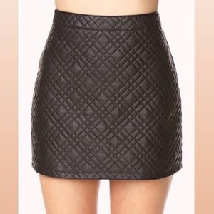 ⚫️Black Quilted Pleather Mini Skirt⚫️